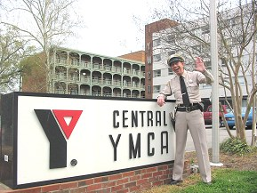 "Raleigh, NC - The Mayberry Deputy visits Barney's favorite place to stay when in Raleigh, the corner room at the ""Y."""